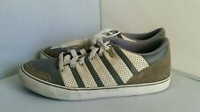 Grey and White K SWISS Classic Lace Up Tennis Shoes