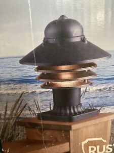 PORTFOLIO OUTDOOR POST LANTERN LIGHT - FADE AND RUST RESISTANT - NEW OPEN BOX