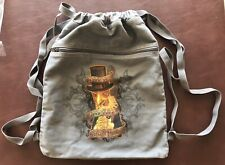 Disney Splash Mountain Vulture Dare To Turn Back Gray Drawstring Bag Backpack