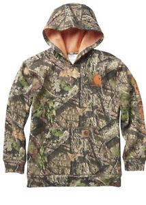 NWOT Carhartt Boys Mossy Oak Hoodie CA8982 Size 10-12