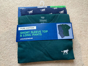 Brand New Marks & Spencer Loungewear Short Sleeve Top And Long  pants Small