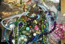 "2 Lbs/Pounds ""Bead Soup"" Grab Bag Lot- Findings/Supplies/Glass/Metal/Stone/Wood"