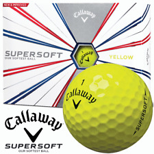 CALLAWAY SUPERSOFT YELLOW GOLF BALLS / 12 BALL DOZEN PACKS -MULTIBUY DISCOUNTS