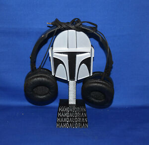 The Mandalorian inspired Headphones Stand Desk Decor ~ 3D Printed in USA