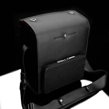 GARIZ Leather DSLR Leica Sony Camera Bag BL-NZBMBK Medium Size Black