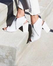 Free People White Leather Dolan Peep Toe Heel Bottie By Matisse Size 6 $135 Boho