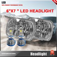 NEW! 2X H4 LED Light Bulbs Super White 7x6 Square Headlight 6000K Fit Ford F-450