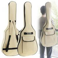 40/41 Inch Oxford Fabric Guitar Case Gig Bag Double Straps Padded 5mm Cotton 1pc