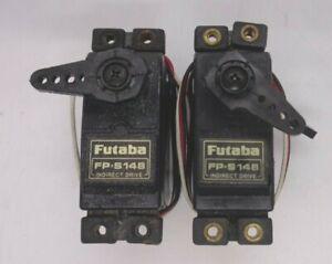 FUTABA FP-S148 STANDARD SIZE  SERVOS QUANTITY 2  + HORNS GOOD CONDITION