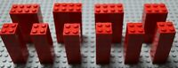 LEGO RED BRICKS BLOCKS 60x 2X2 /40x 2X3 /30x 2X4 OR 50x MIXED - MULTI DISCOUNT