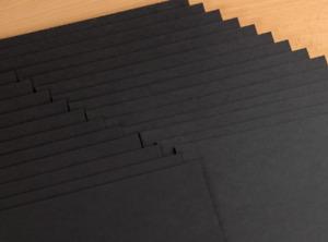 Black Smooth Extra Thick Card 400gsm A4  A3 Premium Grade