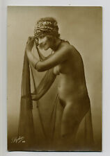 French Naked Woman Lydia 25 - Old Real Photo c.1910
