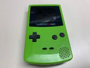 NINTENDO GAMEBOY COLOR HANDHELD CGB-001 LIME GREEN *FUNCTIONAL W/ ISSUES*