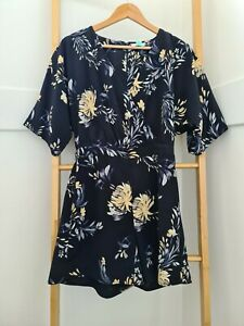 Witchery Floral Print Playsuit - Size AU 8