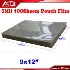 Intbuying 100 Sheets 9x12 Pvc 2flap Glossy Laminating Pouch Film 5mil
