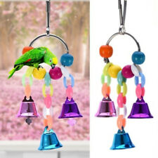 LC_ BIRD PARROT CAGE SWING TOY WITH BELL PARAKEET COCKATIEL LOVEBIRD BUDGIE SU