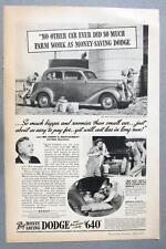 Original 1936 Dodge Touring Sedan Ad Photo Endorsed Harry Montgomery Gifford MO