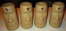 Set of 4 Matching Malibu Rum Plastic Tiki Mugs