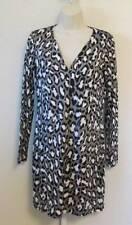 Diane von Furstenberg Reina Spotted Cat Shade leopard grey gray 10 tunic dress