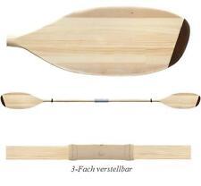 Doppelpaddel Paddel Holzpaddel Kanu Kajak Canoe Kajakpaddel 3-Fach verstellbar