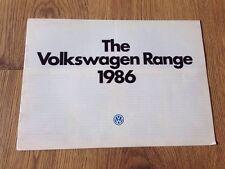 1986 Volkswagen VW Range Brochure Polo Golf Jetta Scirocco Passat