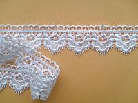 """""""Laces Galore""""  Beautiful White  Guipure Venise  Lace  Trim 3.5cm/1.25"""""""