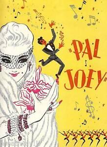 "Rodgers and Hart ""PAL JOEY"" Harold Lang / Elaine Stritch 1952 Souvenir Program"