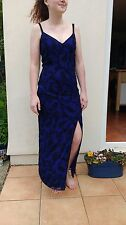 Monsoon Twilight sequin maxi dress blue/purple size 10