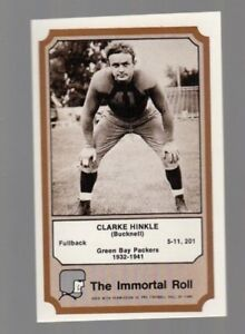 1974 Fleer The Immortal Roll Football Card Clarke Hinkle
