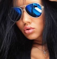 1 Clear Crystal Transparent Aviator Frame Reflective Mirrored Orange Sunglasses