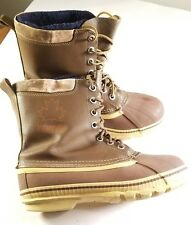 KAMIK Mens Brown Leather Winter Insulated Liner Snow Boots size 9 Canada