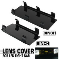 5/8PCS 6'' + 8'' IncIn Black Lens Cover Set Kit Snap Car LED Light Bar   W F