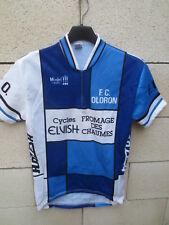Maillot cycliste OLORON Cycles ELVISH RAZESA shirt jersey camiseta années 80 3 M