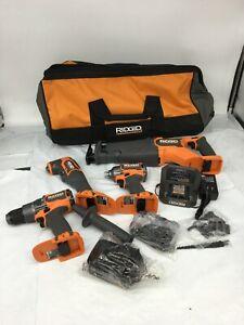 RIDGID R9225 18V BRUSHLESS 4-TOOL COMBO KIT N