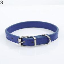 Fashion Adjustable Faux Leather Multi-Color Dog Cat Puppy Neck Strap Pet Collar