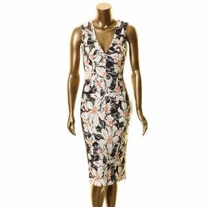 DRESS THE POPULATION NEW Women's Alice Floral Lace Midi Sheath Dress TEDO