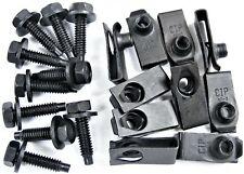 "Ford Body Bolts & U-nut Clips- 1/4-20 x 1"" Long- 7/16"" Hex- 20 pcs (10ea)- #408"