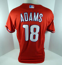 2019 Philadelphia Phillies Lane Adams #18 Game Used Red Jersey Spring Training