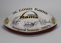 St. Louis Rams Inaugural Season signed autographed football! AMCo Authenticated!