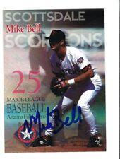 1997 Arizona Fall League Mike Bell Auto Autographed Signed Rangers