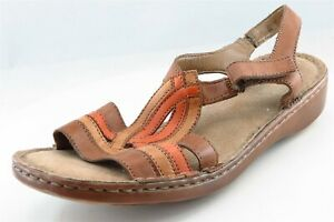 Naturalizer Gladiator Brown Leather Women Shoes Sz 9 W