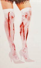 Adult Blood Bloody Hold Up Stockings Zombie Halloween Fancy Dress Accessory