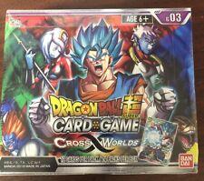 Tarjeta TCG BANDAI Dragon Ball Super Juego Cruz mundos Booster Box B03 Sellado
