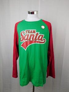 Family PJs Team Santa Christmas Cotton Blend Pajama Top Men's XL X-Large #8013