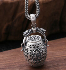 """925 Sterling Silver dragon Chinese word """"恭喜发财"""" Pendant  (without chain) P2708"""