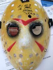 """Jason Voorhees Signed Mask By Kane Hodder Signed """"Jason 7,8,9,X"""""""