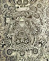 original art RICO1 street graffiti canvas abstract pop skull tattroo underground