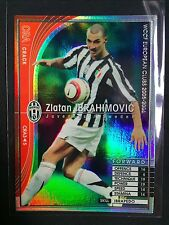 2005-06 Panini WCCF CRACK Zlatan Ibrahimovic Juventus refractor card