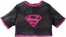 Barbie Superman Fashion T Shirt Accessory Black Mesh Tee Pink Logo Dress Up Toys
