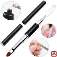 PolyGel Nail Brush Pen Dual-ended Slice Shape Tool LED UV Poly Gel Manicure Set